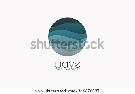 Wave logo. Business Icon. Blue logo. Company logo - stock vector