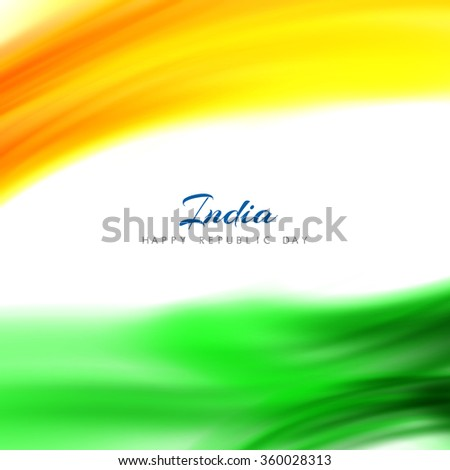 Wave pattern shiny Indian flag design. - stock vector