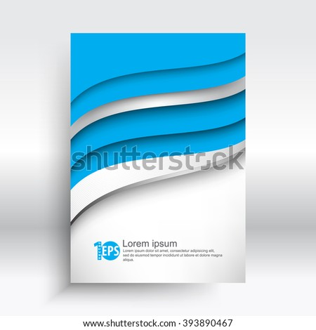 wave shape elements corporate abstract design. eps10 vector - stock vector