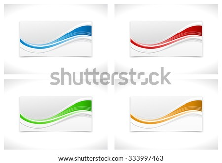 wave stripped banner design - stock vector