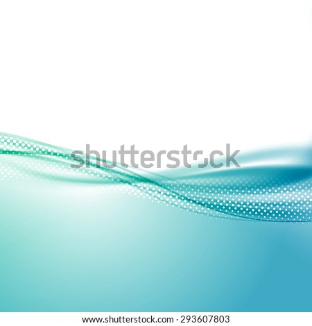 Wave swoosh smooth border line blue background abstract modern dotted line layout. Vector illustration - stock vector