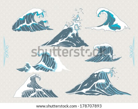 Waves - stock vector