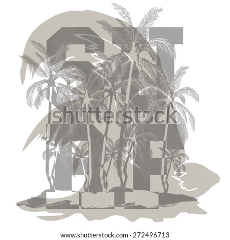 waves and college type - stock vector