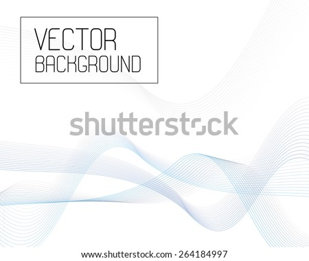 Waves of lines background. Gray-blue. vector. - stock vector