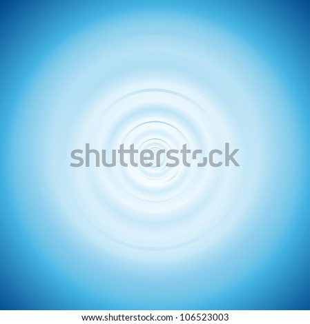Waves on the water from falling drop. Eps 10 - stock vector