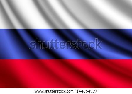 Waving flag of Russia, vector - stock vector