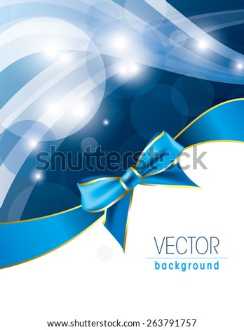 Wavy Background with a Bow. Abstract Vector Illustration. Eps10. - stock vector