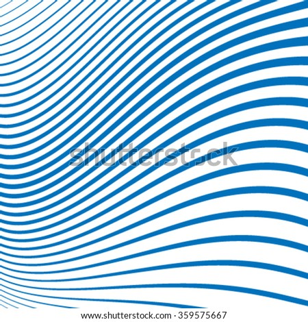 Wavy Geometric Line Pattern. Striped texture for your design.repeating geometric illustration.poster in blue color.illustration can be used for backdrop. - stock vector