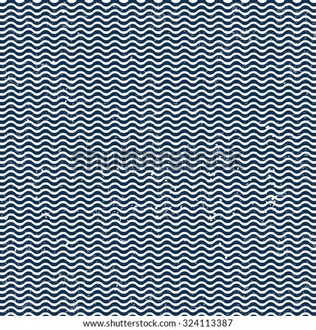 Wavy line pattern vector illustration - stock vector