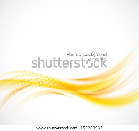 Wavy orange background - stock vector