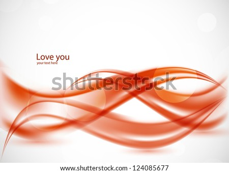 Wavy red background. Abstract illustration - stock vector