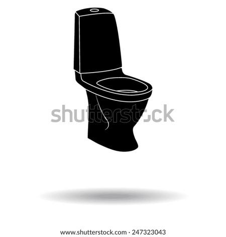 WC bathroom toilet - stock vector