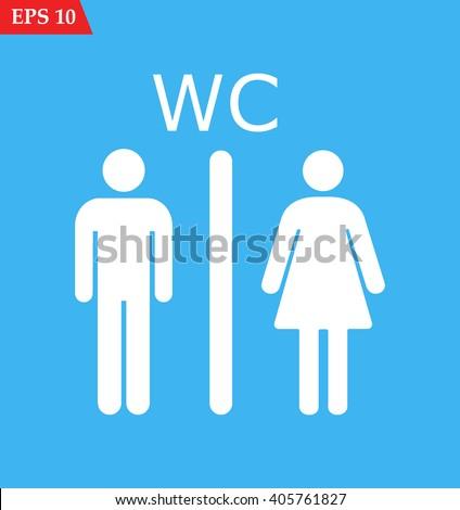 WC icon, WC icon eps10, WC icon vector, WC icon eps, WC icon jpg, WC icon picture, WC icon flat, WC icon app, WC icon web, WC icon art, WC icon, WC icon object, WC icon flat, WC icon UI, WC icon JPG - stock vector