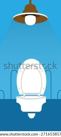 Wc ,Toilet icon - stock vector