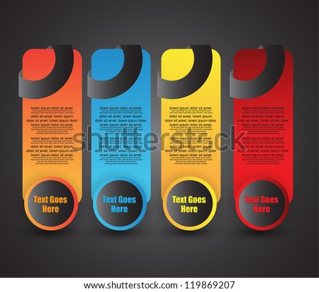 we banner set - stock vector