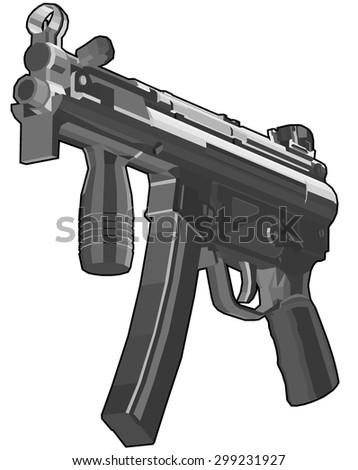 weapon. vector illustration 5 - stock vector