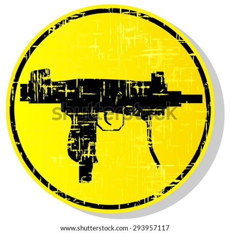 weapon warning sign. vector illustration 4 - stock vector