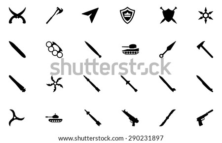 Weapons Vector Icons 5 - stock vector