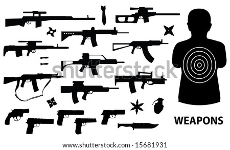 weapons vector set - stock vector