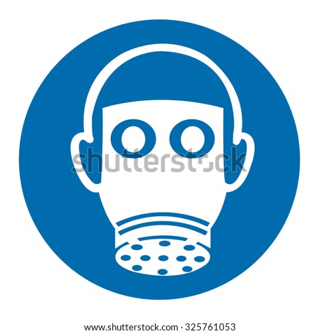 Wear Respiratory Protection Sign - stock vector