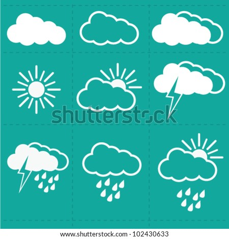 Weather Cloud  Icons vector - stock vector