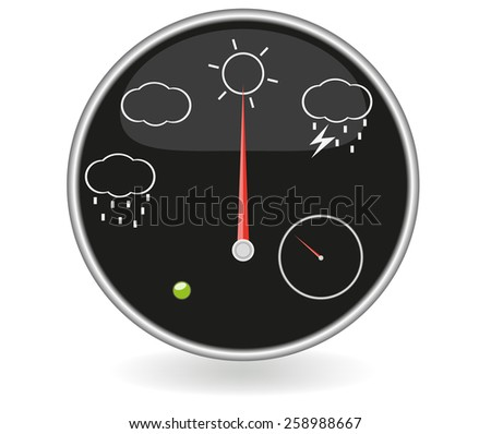 Weather dashboard (EPS 10) - stock vector
