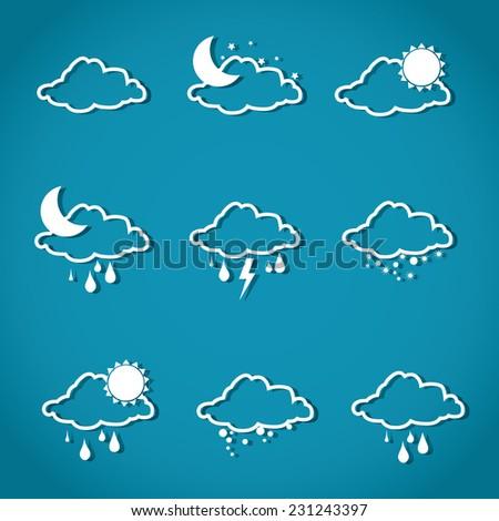 Weather design over blue background,vector illustration - stock vector