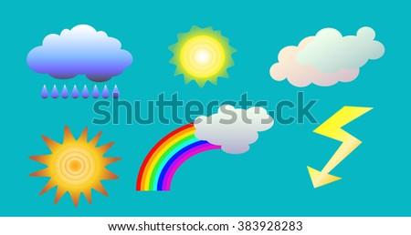 Symbol Of Good Weather Stock Vectors & Vector Clip Art ...