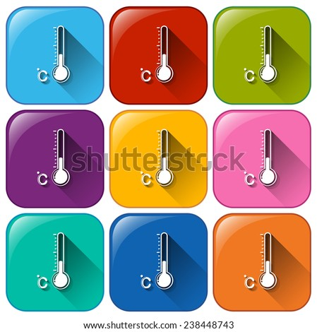 Weather forecast buttons on a white background - stock vector