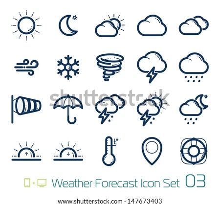 Weather Forecast Icons - stock vector