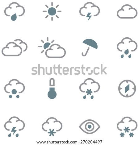 Weather forecast icons set.  - stock vector