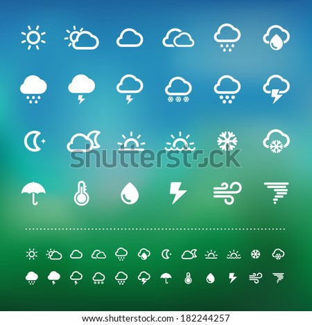 weather icon set .Illustration eps10 - stock vector