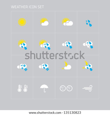Weather Icons set - stock vector