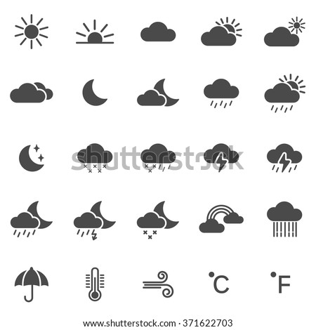 Weather icons set.Vector - stock vector
