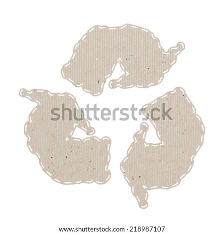 Weather recycled paper craft on white paper background, vector illustration  - stock vector