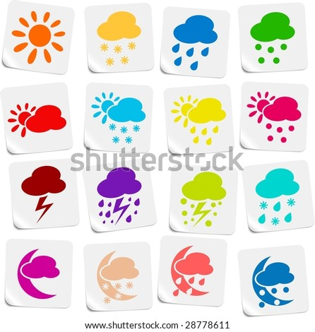 Weather vector iconset - stock vector