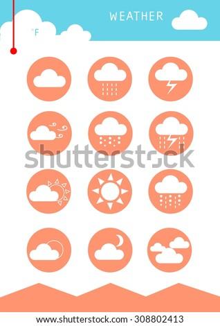 Weather-web - stock vector