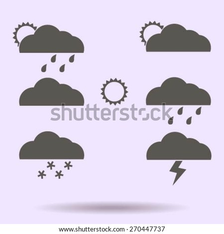 Weather Web Icons Set - stock vector