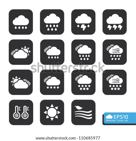 Weather Web Icons Set .vector for web template - stock vector