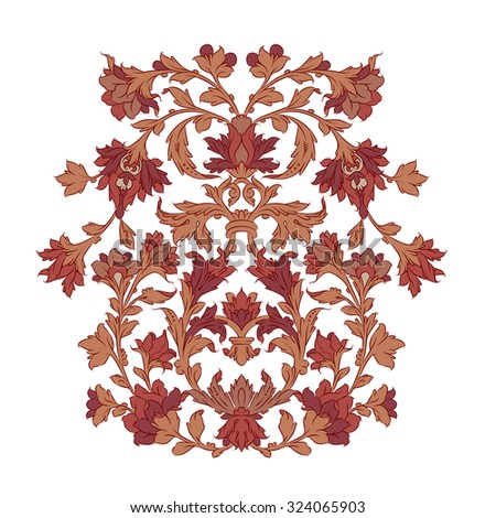 Weathered Persian ornament - stock vector