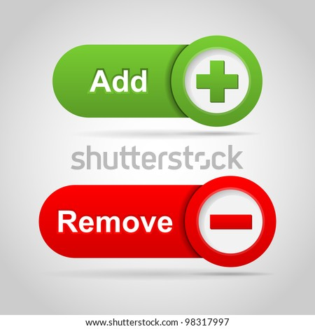 Web add and remove icon. Vector - stock vector