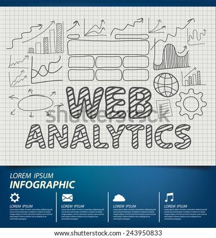 Web analytics. Business concept. - stock vector