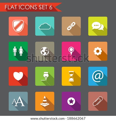 Web and internet flat icons  - stock vector