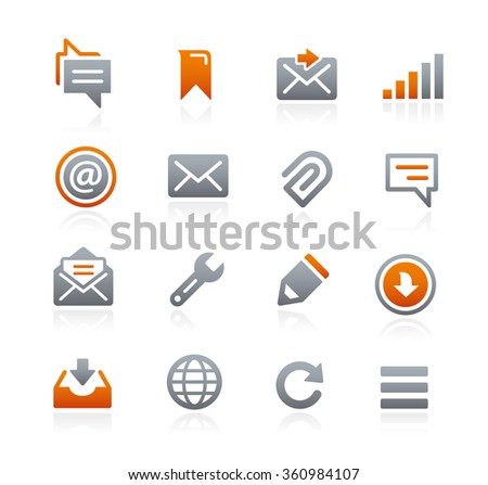 Web and Mobile Icons 9 // Graphite Series - stock vector