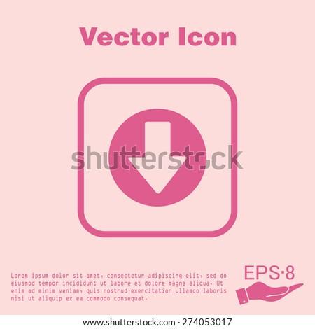 web arrow symbol - stock vector