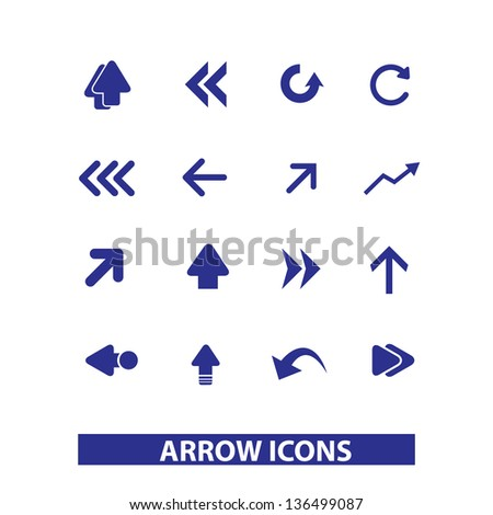 web arrows, directions icons, signs set, vector - stock vector