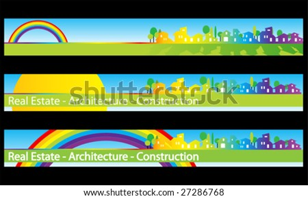 Web banner business card real estate architecture construction