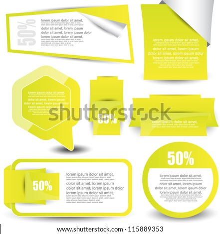 web banner collection - stock vector
