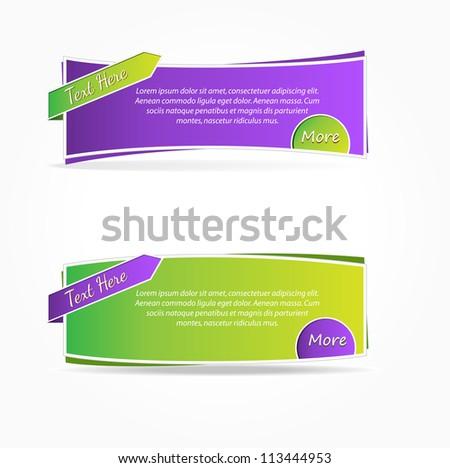 Web Banner Element - stock vector