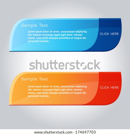 Web Banner Element - stock vector